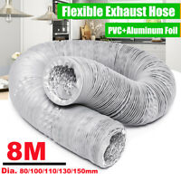 80-150MM 8M 26.25ft Extractor Fan Blower Ventilation Portable Exhaust Duct Hose