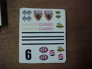 1/24 slotcar 1/24 scale Vintage slot car DECALS Classic Stinger