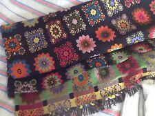 More details for 1960s welsh wool blanket vibrant colours