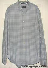 Lyle & Scott Mens Plaid 80s 2 Ply Cotton Long Sleeve Button Down Pocket Shirt XL