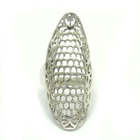 STYLISH LONG STERLING SILVER RING SOLID 925 NEW SIZE G - V R001406 EMPRESS