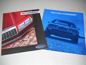 1983 FORD THUNDERBIRD BROCHURE & 83 T-BIRD CATALOG 2-4-1 Deal