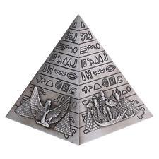 Metal Handicrafts Egyptian Pyramids Building Bookshelf Ornament -10 x 10 cm