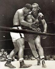Rocky Marciano vs Joe Louis, 8x10 B&W photo