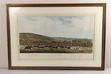 1819 Henry Alken | Epsom Races | finish of DERBY | large hand-coloured ENGRAVING