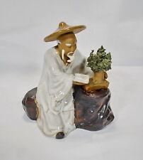Bonsai BUDDHISTISCHER MÖNCH Figuren Koi Asien Figur Asiatiika
