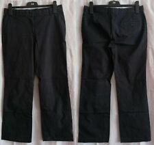 H&M Stoffhosen Damen Freizeithosen Baumwolle Polyamid Elasthan schwarz Gr.40
