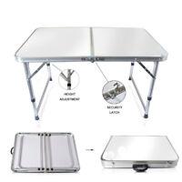 3FT Portable Aluminium Folding Foldable Table Camping Outdoor Picnic BBQ Wedding