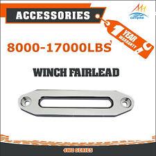8000-17000LBS Aluminium Hawse Fairlead Winch Alloy Synthetic Rope 4X4 Recovery