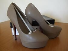 JUMEX Heels NIB Khaki/Taupe Platform Shoes High Heels Closed Toes UK Size 6