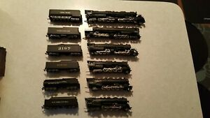 Rare 1965 to 1967 Collection of 6 New AHM Rivarossi Locomotive Engines: FLAWLESS