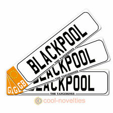 "MINI NOVELTY NUMBER PLATE GIFT FOR FC FANS ""BLACKPOOL"" PERFECT FOR FOOTBALL FANS"