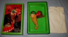 VTG 1979 Hallmark Elf/Gnome Stocking Hanger Hook Christmas W/Box!