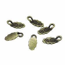 100 Antique Bronze Spoon Glue on Bail Earring Bails Scrabble Glass Pendant Charm