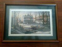 TERRY REDLIN FRAMED MATTED HOMEWARD BOUND print