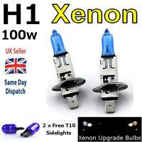H1 100w SUPER WHITE XENON (499) HIGH BEAM UPGRADE Head Light Bulbs 12v E