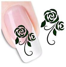 24pcs Fingernail Stickers Water Transfer Decals Flower Nail Art Decoration