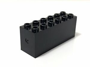 LEGO Vintage Black Brick Weight Bottom Sealed Dimple on Ends From 7745 4020 8862