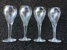 "4  Crystal Princess House Heritage Tulip Champagne or Wine Glasses 5 3/8"" Tall"