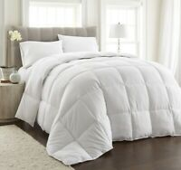 Piped Edges White Down Alternative Comforter Duvet Insert w/Corner Tabs, King