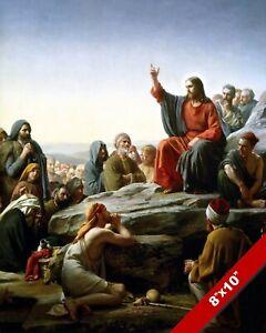 JESUS SERMON ON THE MOUNT CHRISTIAN BIBLE PAINTING CARL BLOCH ART PRINT CANVAS