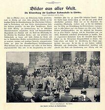 Einweihung der Lausitzer Ruhmeshalle / Görlitz durch den Deutschen Kaiser 1902