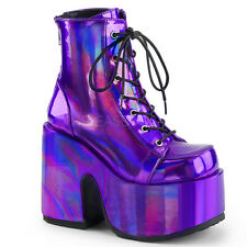Purple Platform Ankle Boots Festival Rave Burning Man Gogo Dancer Pleaser 7 8 9