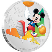 Disney Mickey Mouse 2020 – Aim High 1oz Silver Coin