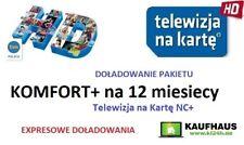 Doladowanie TnK NC+ KOMFORT+ 12M Telewizja na karte Aufladung Polsat TVN POLSAT