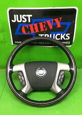 07 13 Cadillac Escalade Leather Woodgrain Steering Wheel Radio Control HEATED