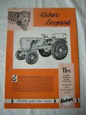 altes original Traktor Prospekt - Eicher Leopard - 15 PS Schlepper