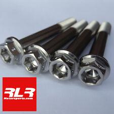 4 Tornillos de titanio de dos unidades pinza de montaje Honda Suzuki Yamaha Kawasaki M10x30