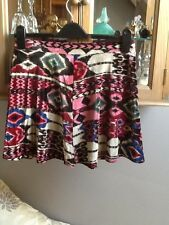 River Island multicolour Aztec flippy short skirt UK 12