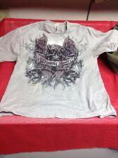 Alstyle Miami Ink Gray Skull M T- Shirt