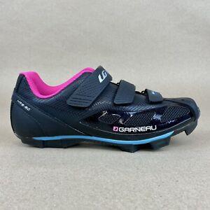 Womens Louis Garneau Multi Air Flex HRS-80 Shoes Size 7 Black Cycling 2-Bolt
