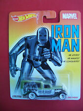 HOTWHEELS MARVEL 2014 IRON MAN 34 DODGE DELIVERY MINT 1:64 SCALE