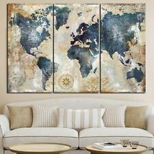 World Map Modular Painting Posters Canvas Wall Arts Scandinavian Picture Prints