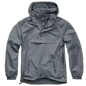 Jacket Brandit Classic Windbreaker Hooded Anorak Cadet Hiking Hunting Dark Camo