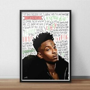 21 Savage Poster / Print / Wall Art A5 A4 A3 / Rapper / Savage Mode / Issa Album