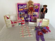 Vintage Barbie Snap 'n' Store Quilted Furniture Accessories & Barbie & Ken Dolls
