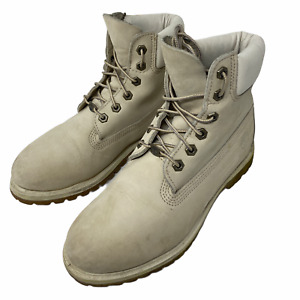 timberland light gray leather high boots size us-8.5 eu-42 uk-8