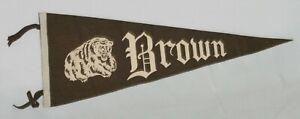 """Rare Version! 1940's - 1950's, Brown University Full Size 29"""" Felt Pennant"""