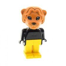1 x Lego Fabuland Figur Tier Löwe 1 dunkel orange schwarz gelb 3695 3678 fab7e