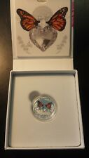 Canada 2017 $3 1/4 oz .9999 Silver Celebration of Love Butterflies with Box/COA