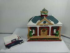 Musical Christmas Porcelain Light House post Office