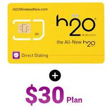 H2O WirelessTriple Cut(Regular,Nano,Micro) At&T & Unlocked phones Sim Card With