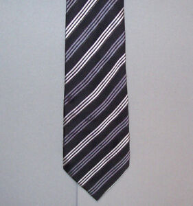 "President DONALD J TRUMP Black Gray Silver Signature Silk 60"" Neck Tie #479"