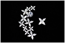 Rock Girls PUNK EARRING CRYSTAL Right & Left EAR CUFF CLIP STUD Party Earring