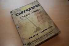 GROVE CRANE RT62S Parts Manual book catalog truck mounted hydraulic spare list