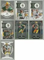 Green Bay Packers 7 card 2017 Panini insert & parallel lot-all different